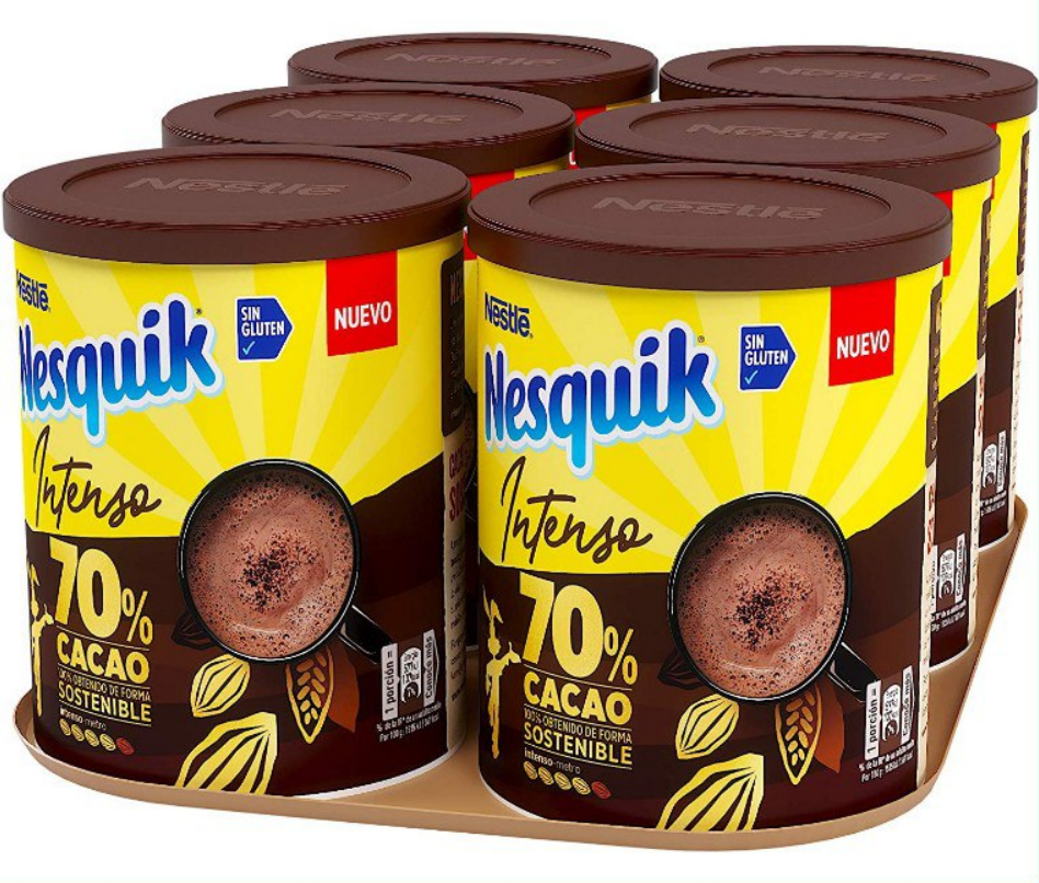 6X300Gr Nestlé Nesquik Intenso