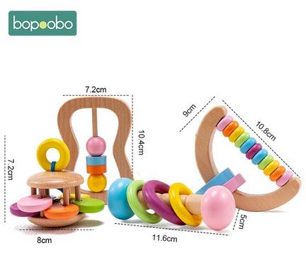 Conjunto de juguetes de madera
