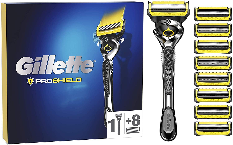 Maquinilla de Afeitar Gillette ProShield + 9 Cuchillas de Recambio