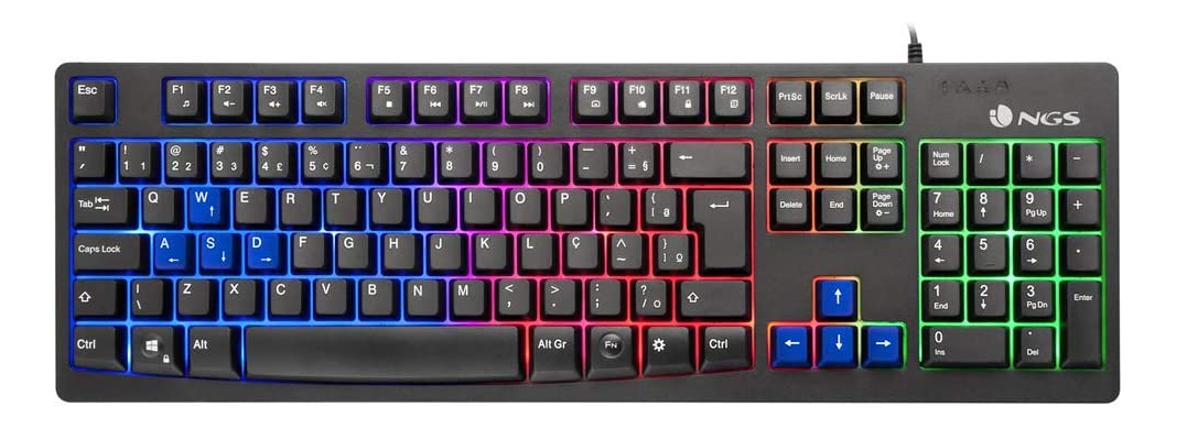 Teclado Gaming USB con Luces LED NGS GKX-300