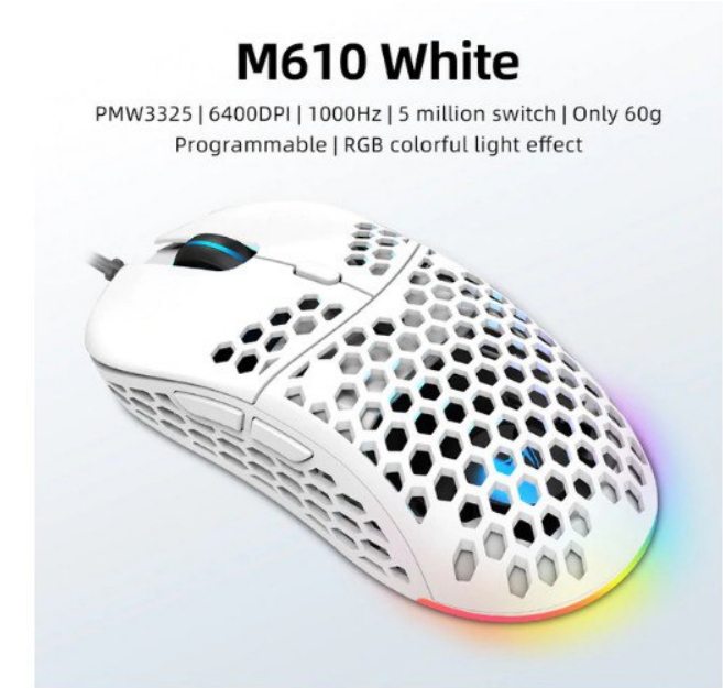 Ratón gaming RGB Machenike M610
