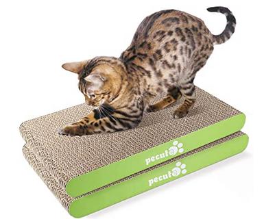 Paquete de 2 Rascadores para Gatos con Hierba Gatera