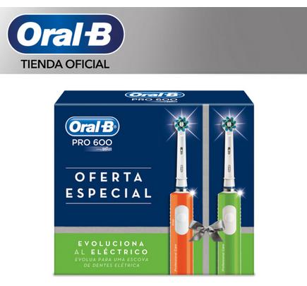 2X Oral B Pro 600 Crossaction