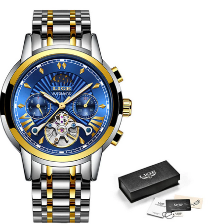 LIGE Reloj de pulsera para hombre