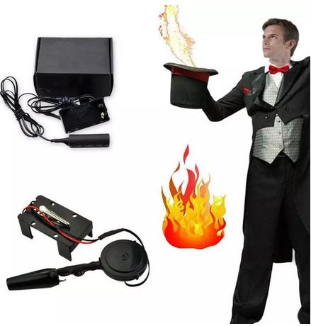 Lanzador electrónico de bolas de fuego
