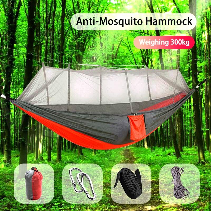 Hamaca de acampada Go Swing con mosquitera + Accesorios