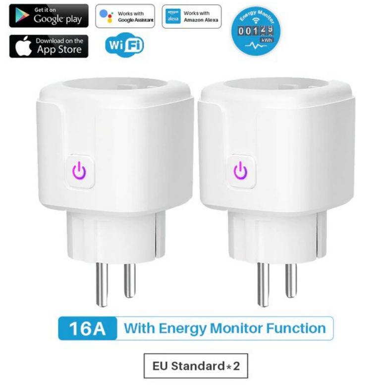 Pack 2 enchufes inteligentes WiFi compatibles Alexa y Google