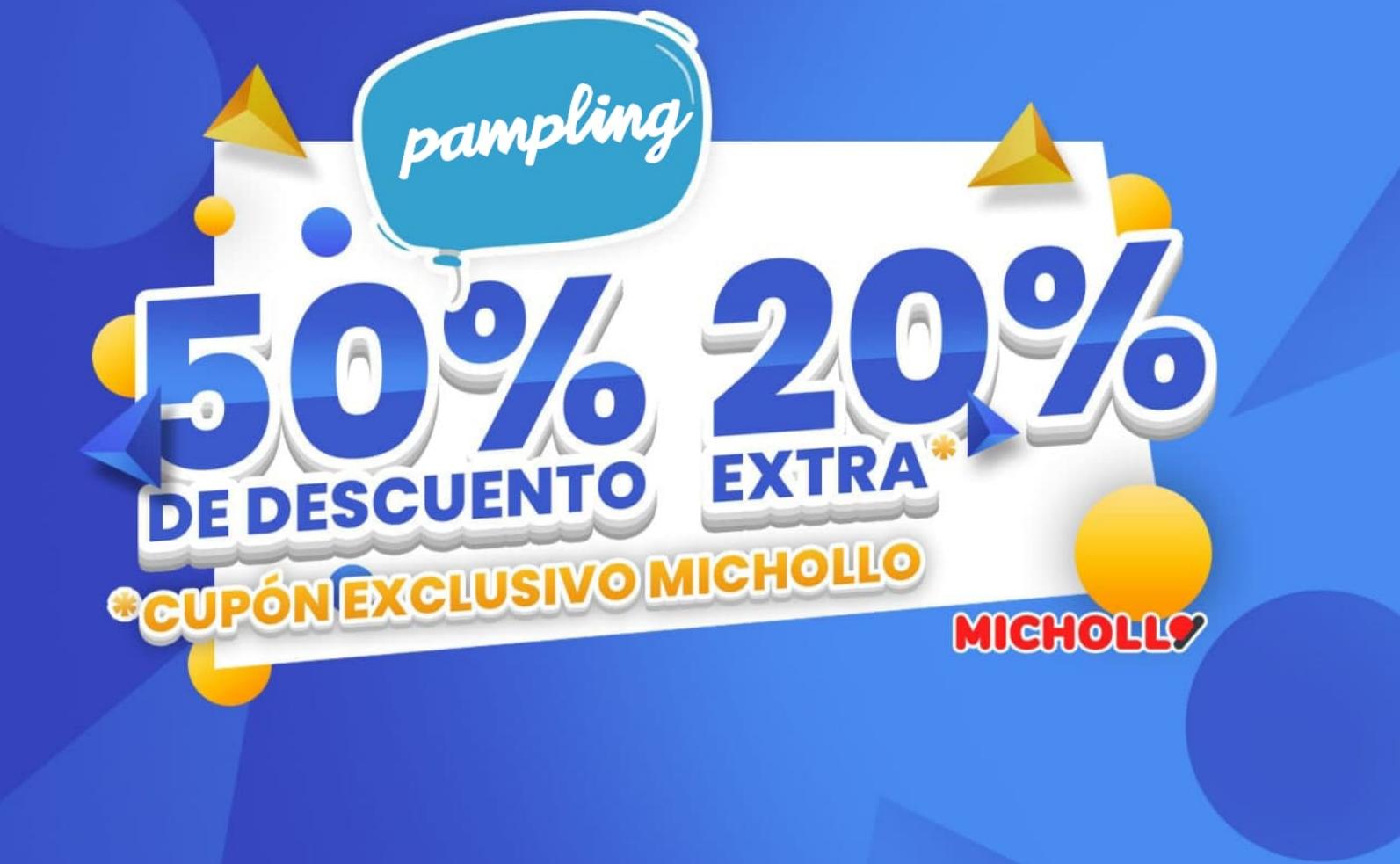 Descuento de 50% + 20% EXTRA en camisetas Pampling