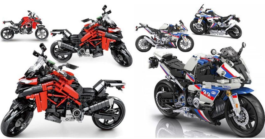 Motocicleta de construcción 710pcs