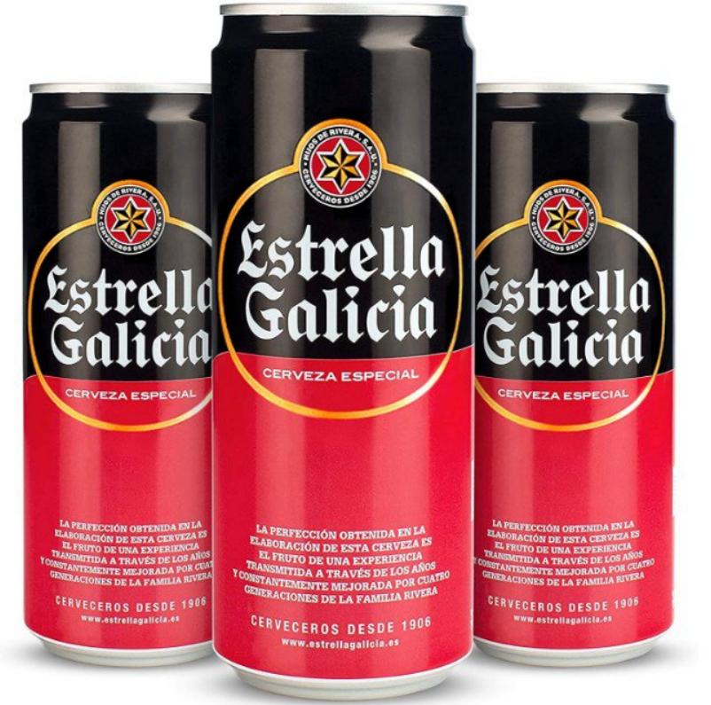 24x330ML Latas de Cerveza Estrella Galicia Especial