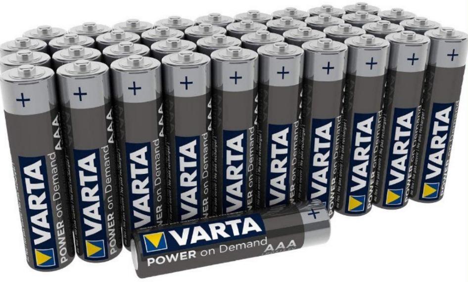 40 Pilas AAA VARTA Power on Demand