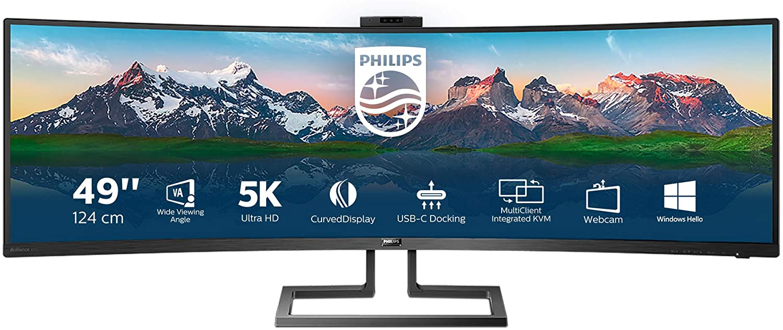 "Monitor 49"" Philips Curvo 1800R SuperWide VA 5120x1440"