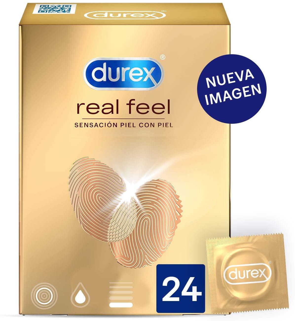 Pack de 24 Preservativos Durex Sensitivos Real Feel
