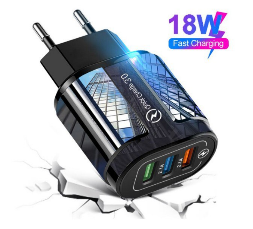 Cargador 3 Puertos USB 3.0 18W