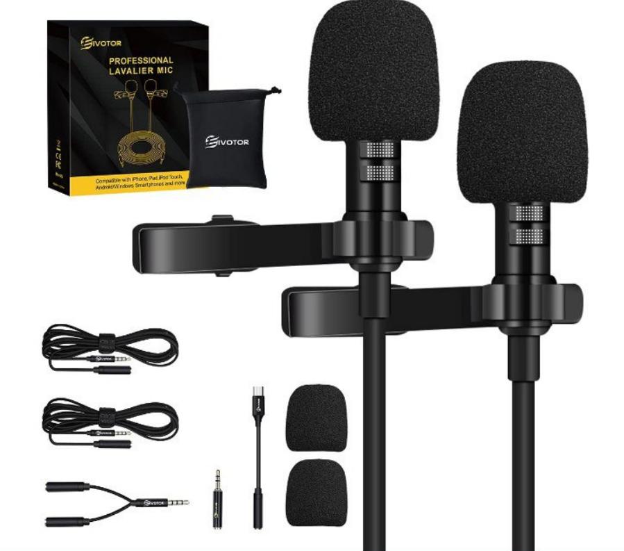 Micrófono profesional de doble solapa
