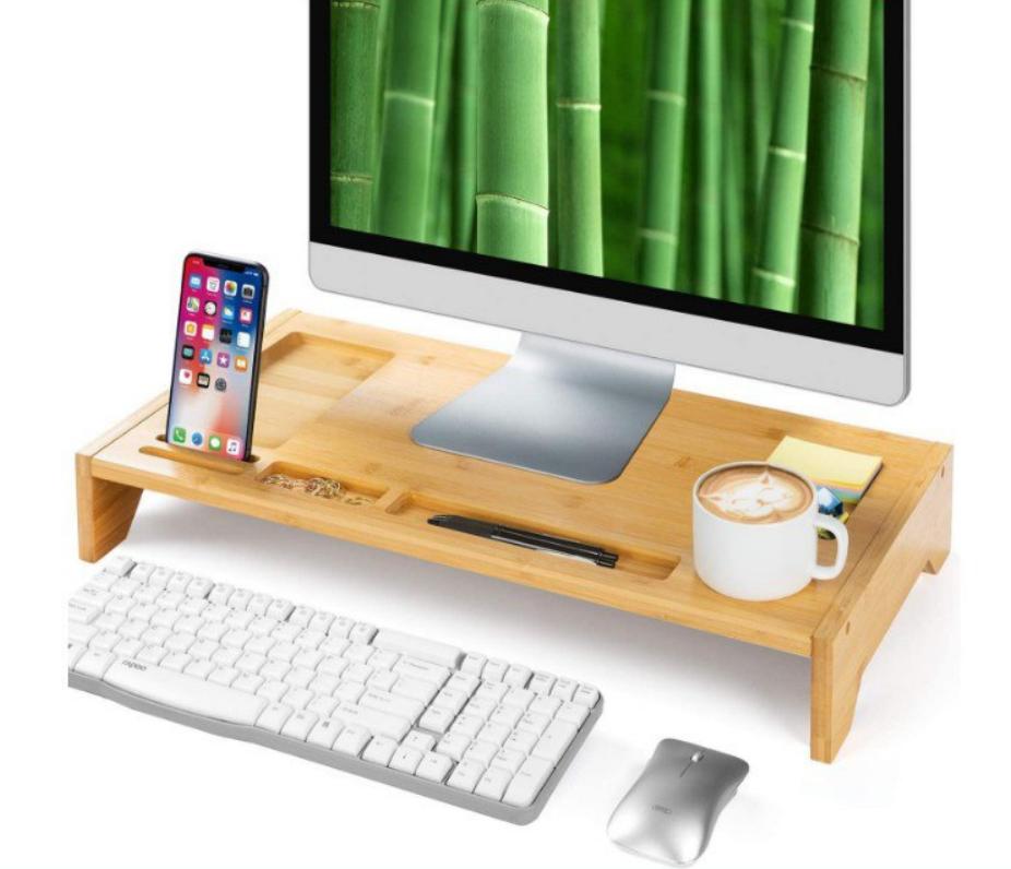 Soporte de Monitor de Bambú