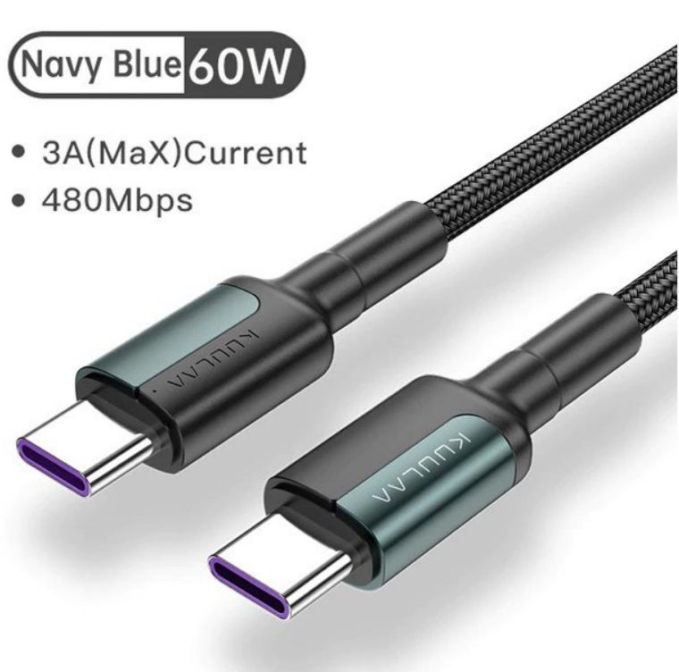 Cable carga rápida USB Tipo C a tipo C