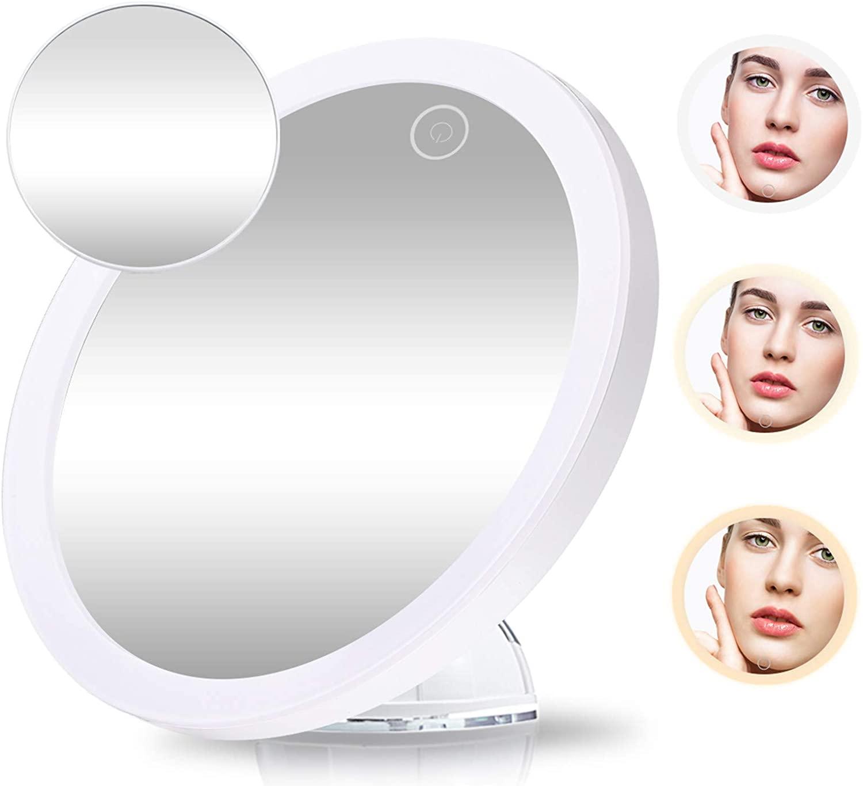Espejo de maquillaje LED 360º