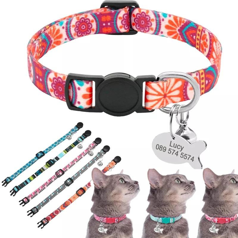 Collar de gato personalizado