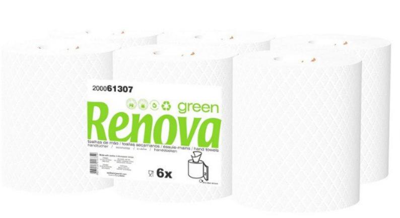 Bobinas de papel seca manos Renova Green 6x96 Metros