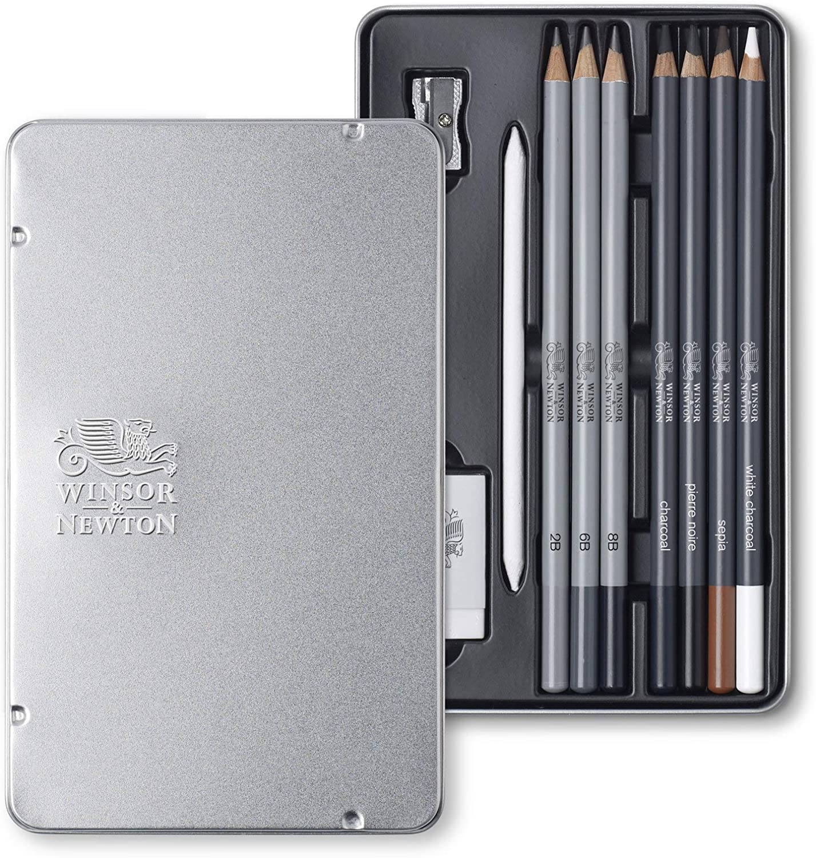 Winsor & Newton Esbozo blanco, 7 lápices