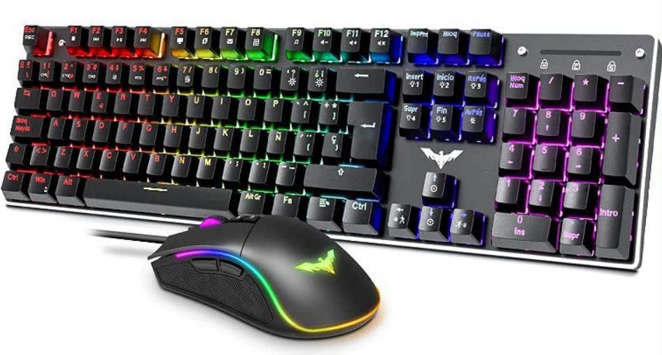 Pack teclado mecánico y ratón Gaming havit