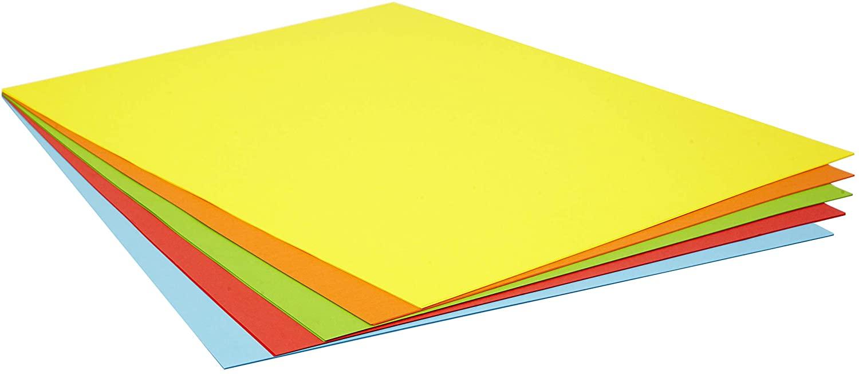 Pack 25 Cartulinas de Colores Intensos
