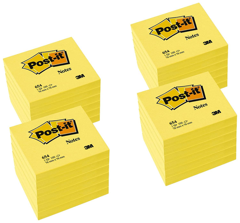 3M Post-It Pack 24 Blocs Notas 654 Amarillo