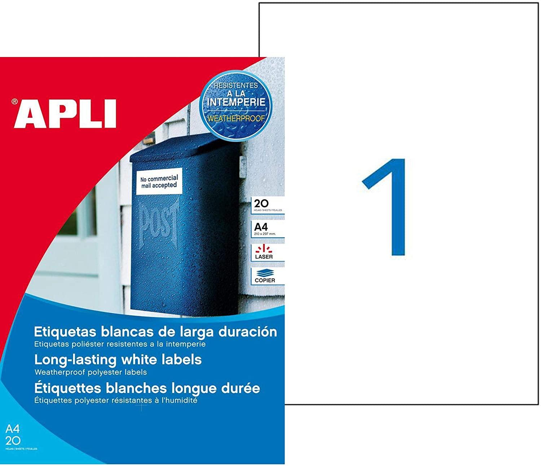 Etiquetas blancas resistentes  APLI