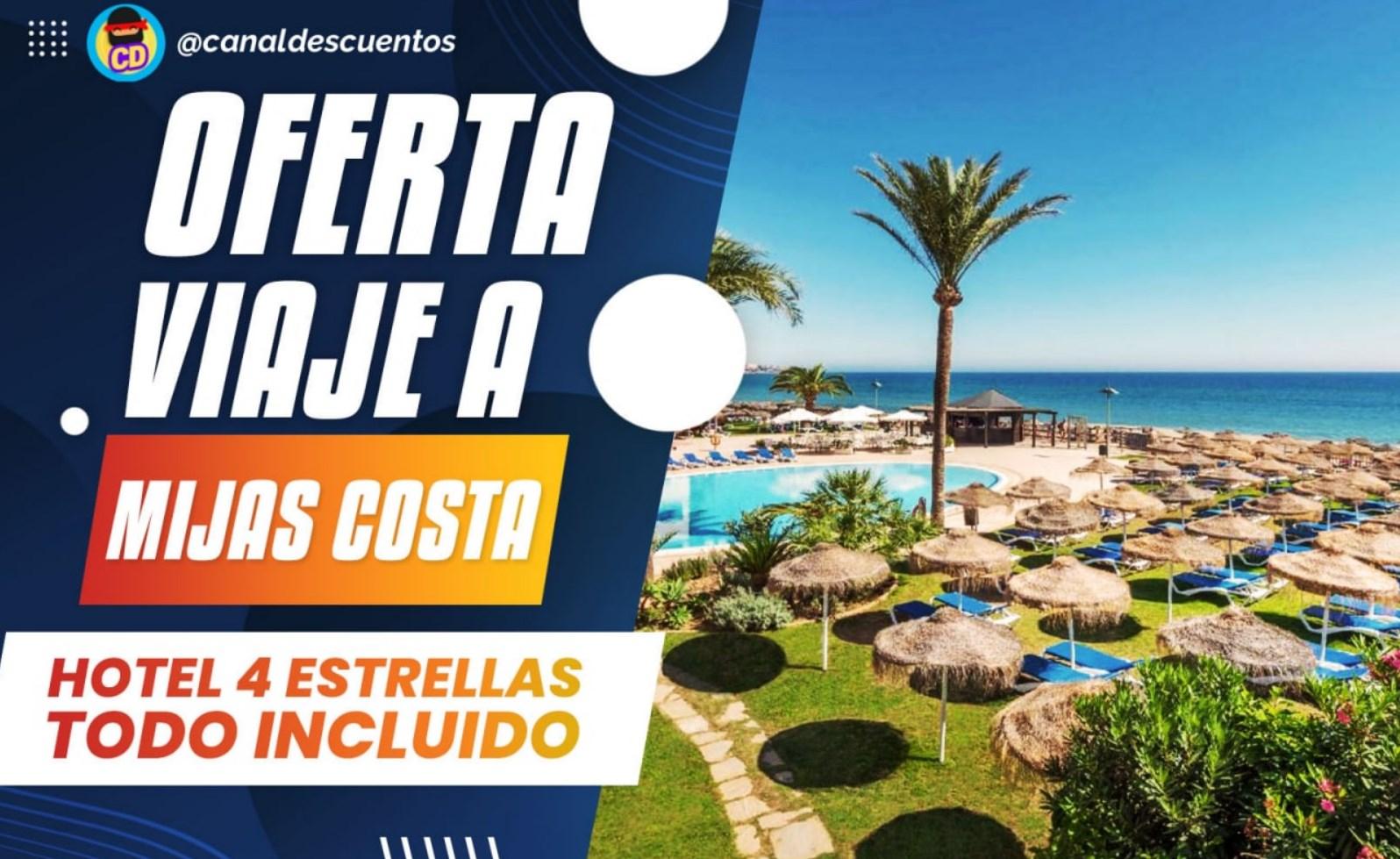 Vacaciones en la costa de Mijas-Málaga con Pensión Completa desde 348€ persona/paquete 4 noches