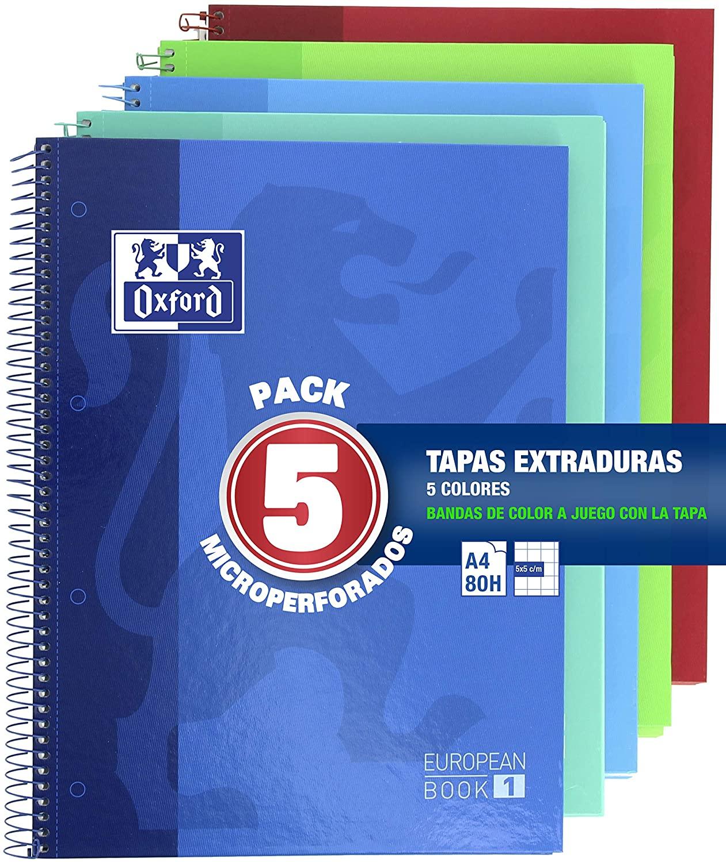 Pack de 5 Cuadernos  Oxford Classic