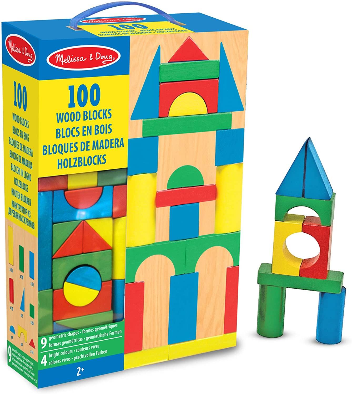 Bloques de madera 100 piezas