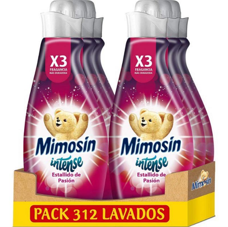 Mimosín Intense Suavizante Estallido De Pasión Pack de 6