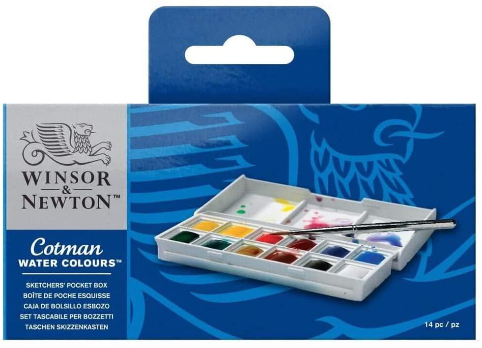 Caja plástica de acuarela Winsor & Newton