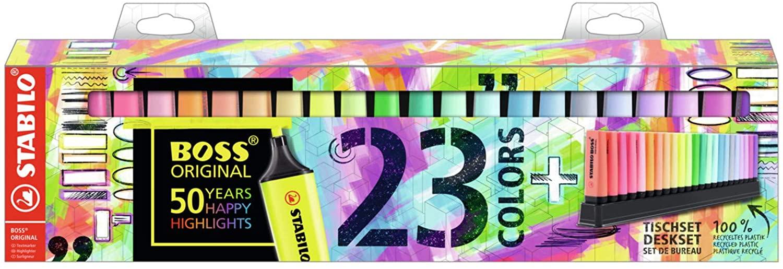 Marcador STABILO BOSS Original  Set de mesa con 9 colores