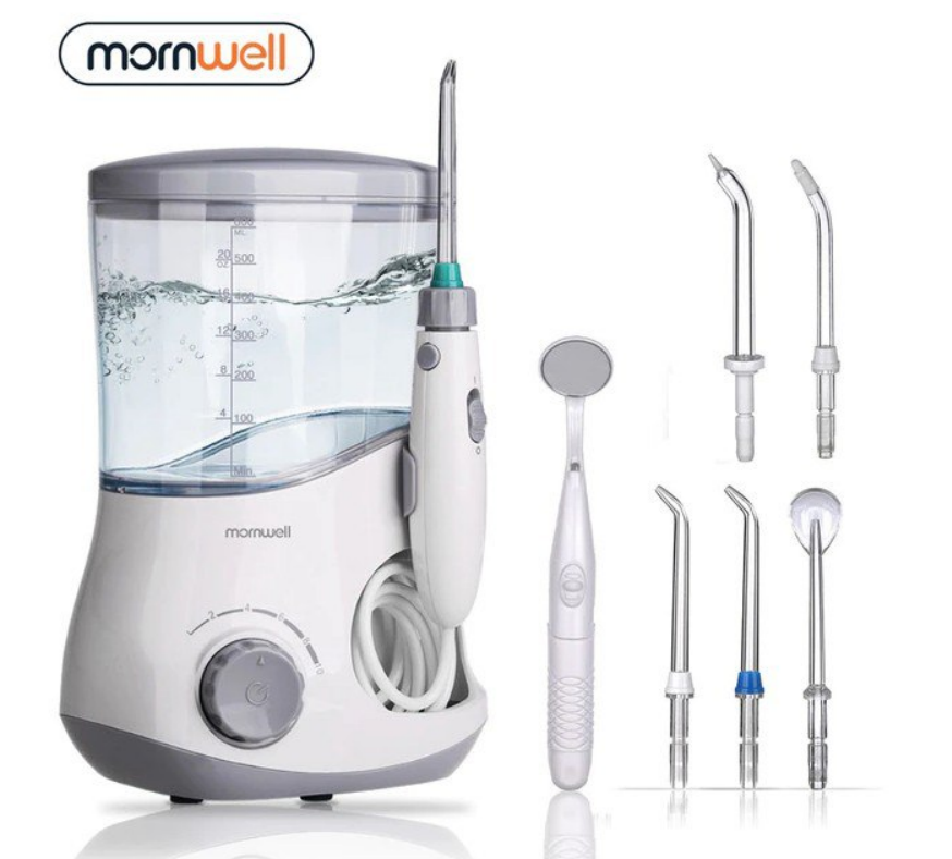 Irrigador dental Mornwell 600ml + Accesorios