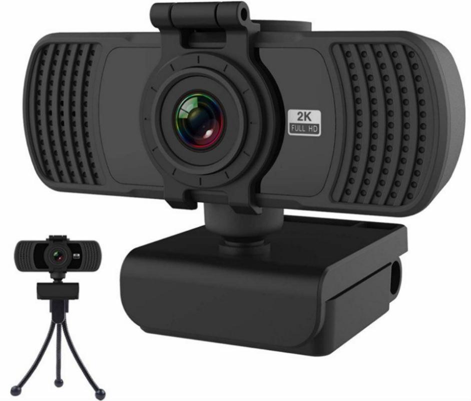 Webcam con micrófono Full HD 2K 1440P  Aumdie