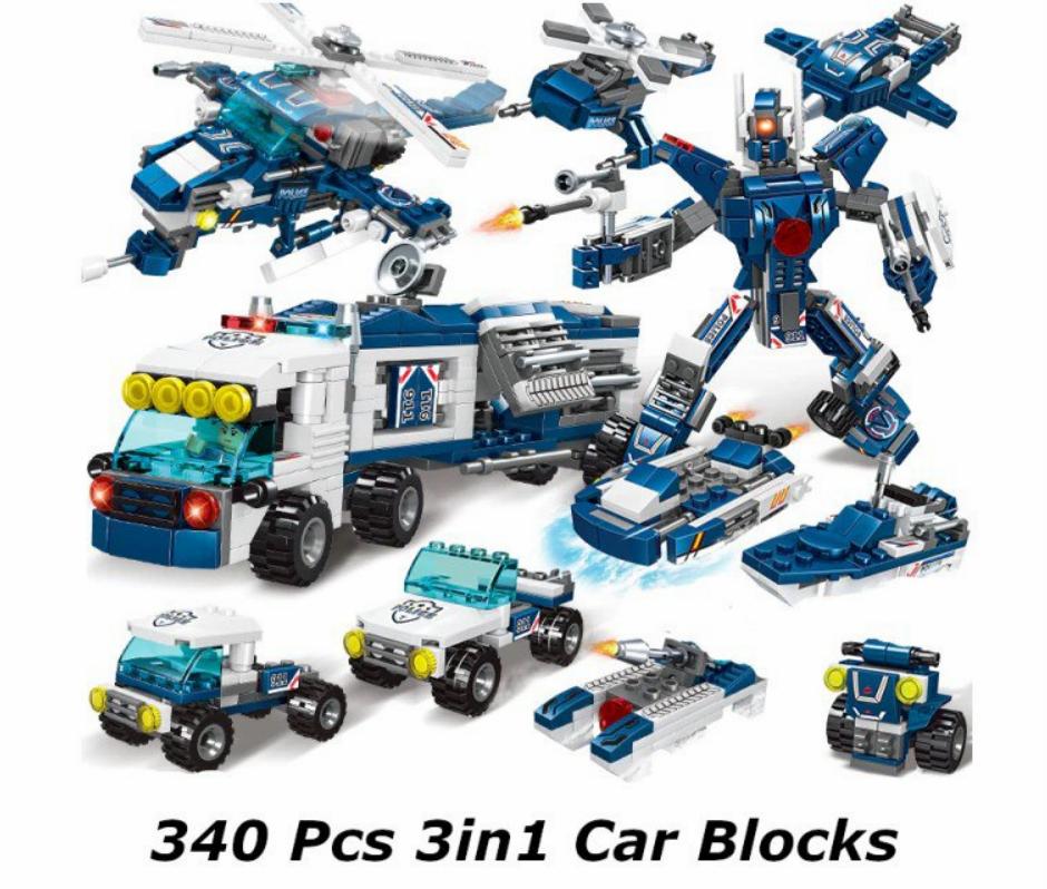 Estación de policía 340 piezas tipo Lego