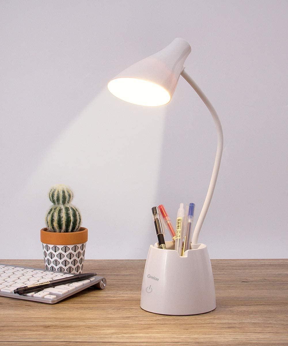 Lámpara de escritorio LED con Portalápices