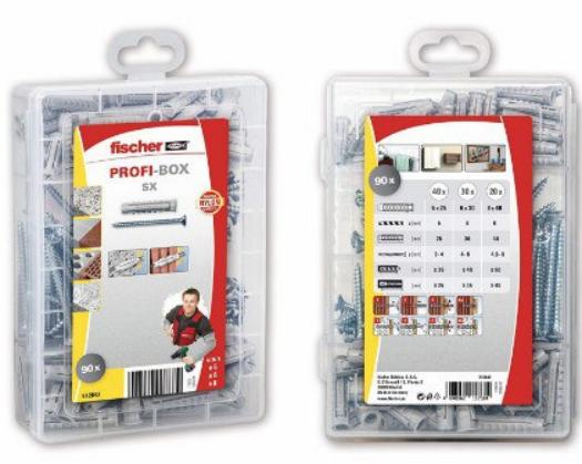 Maletín surtido Fischer tacos + tornillos