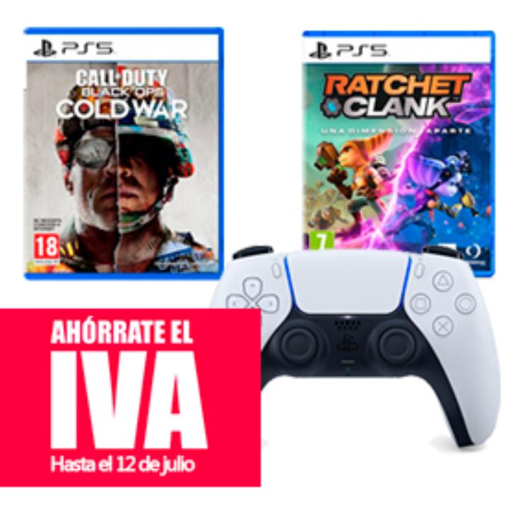 Ahórrate el IVA en juegos de PS5 y mandos Dualsense