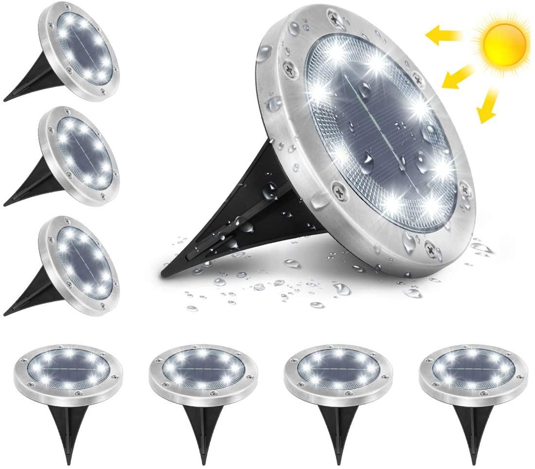 Pack 8 luces solares LED para jardín
