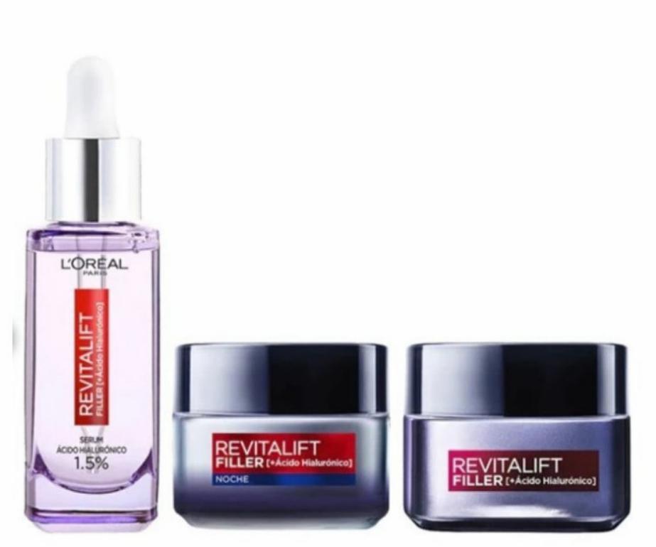Pack L'Oréal Paris Revitalift Filler Día y Noche +Serum Antieda