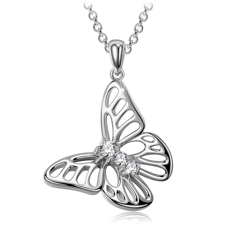 Collar mariposa playa ley 925
