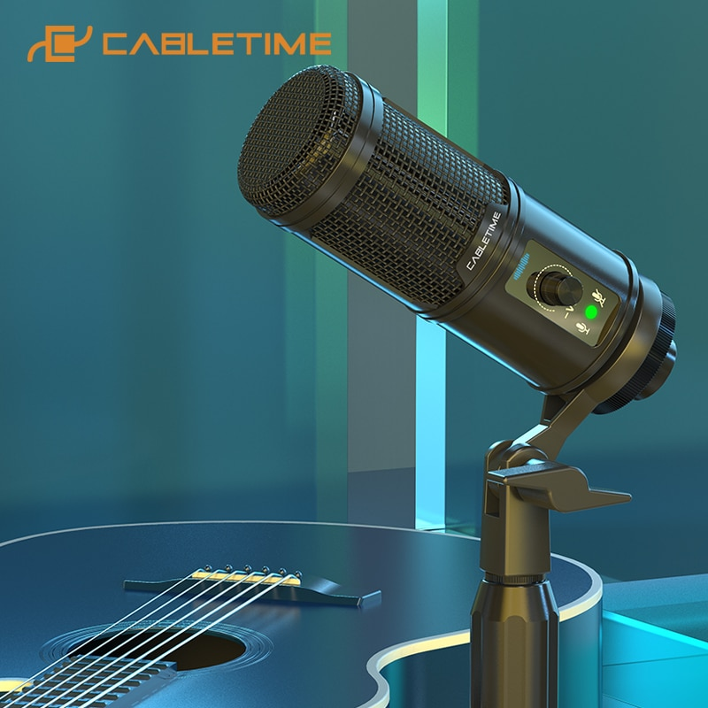 Micrófono condensador Cabletime con Reducción de ruido