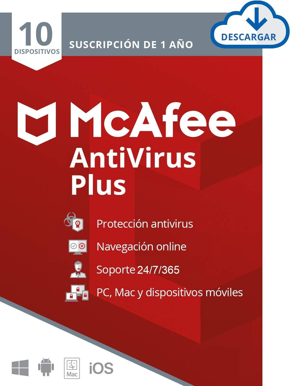Suscripción de 1 año Antivirus McAfee Plus 2021