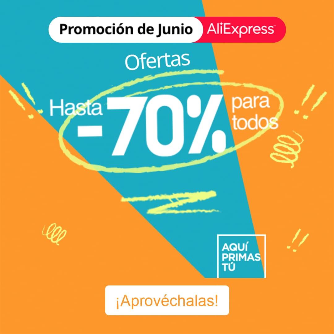 Summer Sale con hasta -70% Dto. Aliexpress