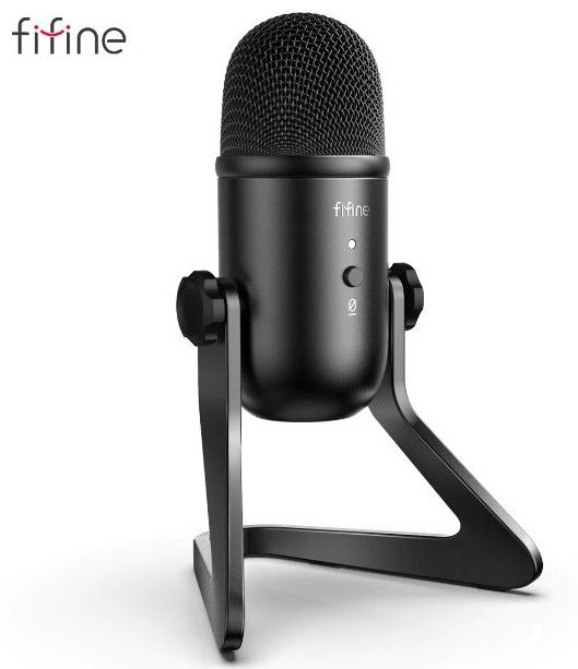 Micrófono profesional para grabación o streaming