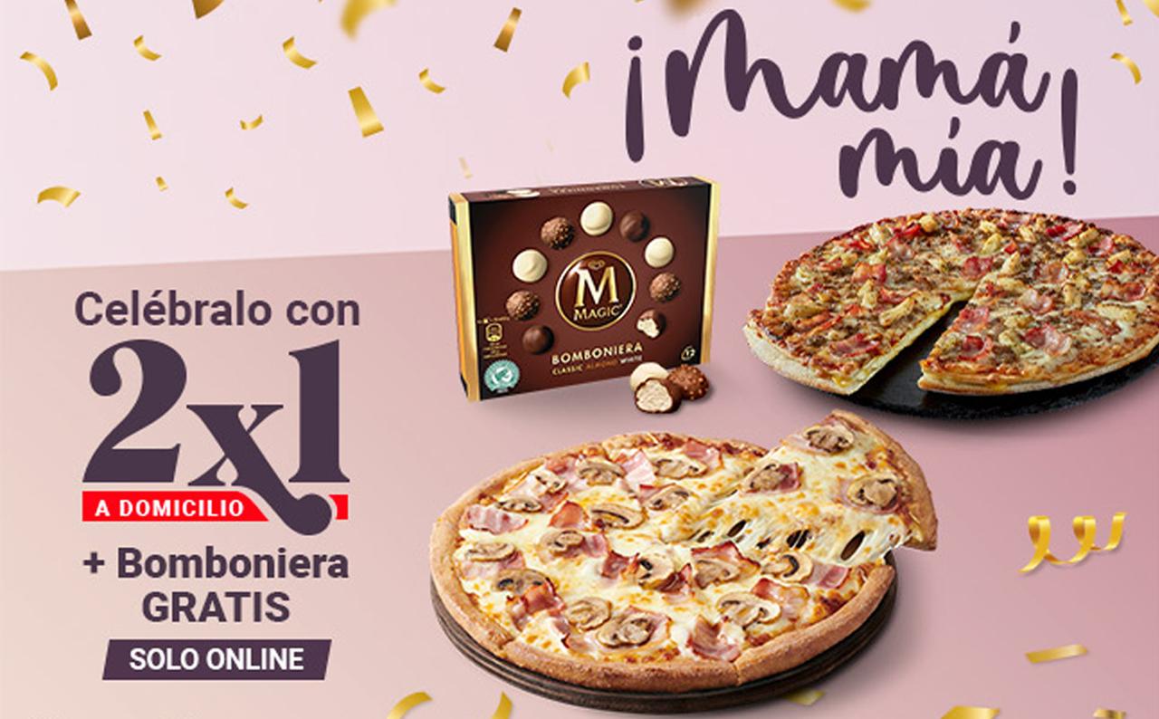 2x1 en Telepizza + Bomboniera GRATIS