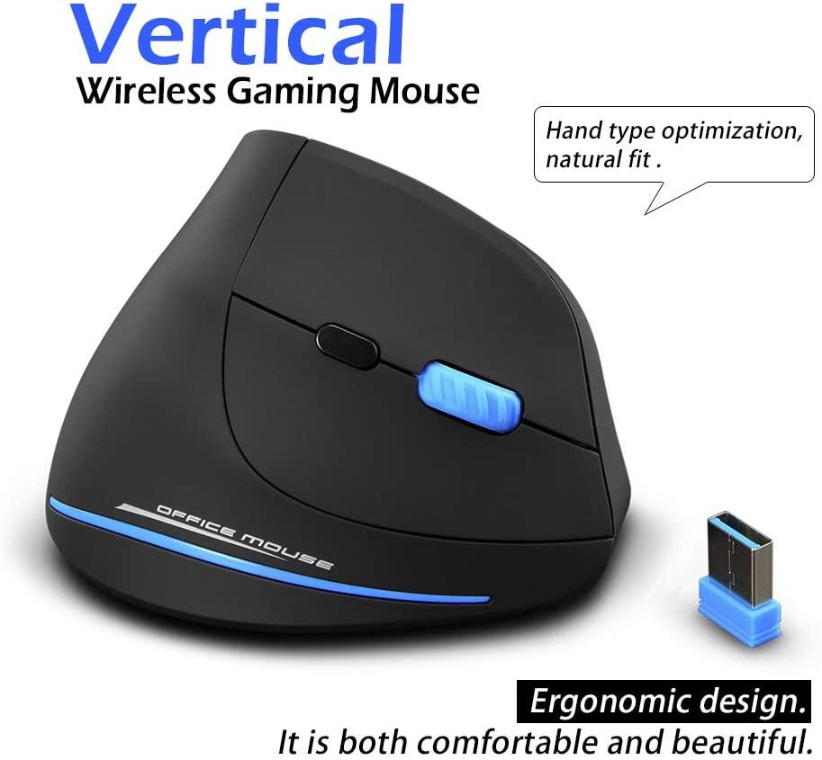 Ratón inalámbrico vertical ergonómico